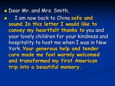 letter of thanks and congratulation ppt