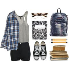 """My kinda school outfit ;)"" by emc1397 on Polyvore"