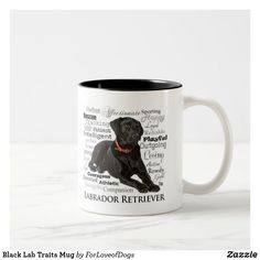 Shop Black Lab Traits Mug created by ForLoveofDogs. Black Labrador Retriever, Pet Breeds, Black Labs, Animal Skulls, White Elephant Gifts, White Shop, Dog Lover Gifts, How To Be Outgoing, Pet Dogs