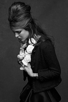 Black and White Photography ♡ The little black jacket - chanel Salon shoot