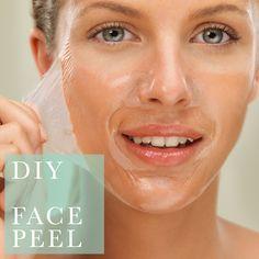 DIY Acne and Blackhead-Fighting Face Peel