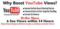 Buy youtube views uk and improve your search engine ranking position, Increase visitors to your targeted blog. Secure payments by PayPal