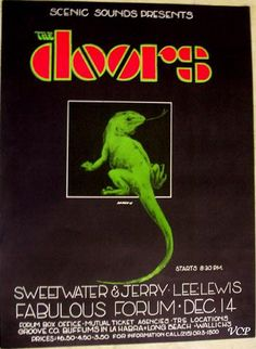 The Doors, Sweetwater, and Jerry Lee Lewis concert poster