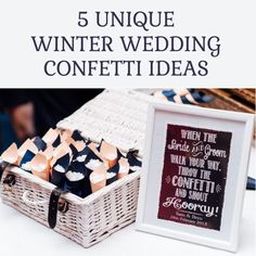 Today's post is all about wedding confetti! From sparklers to glitter, discover our favourite Winter wedding confetti ideas that are perfect for this season Confetti Cones, Paper Confetti, Glitter Confetti, Wedding Confetti, Confetti Ideas, Wedding Decorations For Sale, Christmas Wedding Themes, Winter Wonderland Wedding Theme, Christmas Tinsel