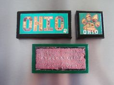 OU  Ohio University Bobcats Mini Canvas Magnets  by ColMarieSmith, $25.00