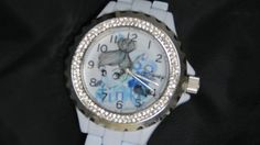 Tinkerbell Rhinestone Watch Tinker Bell White Enamel Watch New In Box #Disney #Casual
