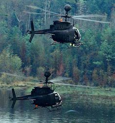 Two OH-58D Kiowa Warrior helicopters of the US Army on patrol. - Image - Airforce Technology