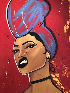 Super Ideas for black art painting Art Black Love, Black Girl Art, Art Girl, Black Girl Magic, Black Art Painting, Black Artwork, Art Magique, Arte Black, Frida Art