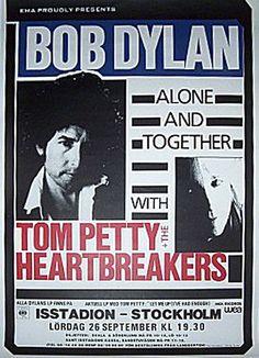 1- 09 26 1987 - Bob Dylan Concert Poster