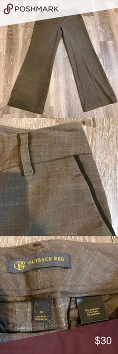 """The Limited wide-legged dress pants Lovely brown dress pants by Outback Red/ OBR for The Limited. Unlined.                                                                No trades or modeling. 🚫.                                      Smoke-free but 🐶 friendly home.                                       Open to reasonable offers via """"offer"""" button 😁 Outback Red Pants Trousers"""