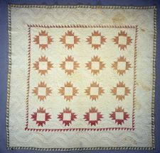 """""""Crown"""" quilt, 1860, by Mary McCrea. From the collections of the Smithsonian Institution"""