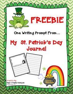 Freebie St. Patrick's Day Writing Prompt