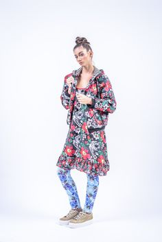Romani Design, ss17, wanderers of the worlds, roma, gypsy, stripes, striped, floral, print, rose, roses, fashion, flower, flowers, outfit, spring, summer, tunic, ruffle, ruffles, leggings, hoodie, bomber, wheel Ruffles, Gypsy, Roses, Men Casual, Spring Summer, Stripes, Tunic, Leggings, Hoodies