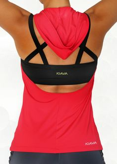 The Red WarmUp Halter with our Black Endurance Bra!Love Love this top and work out bra I have several colors !!!!