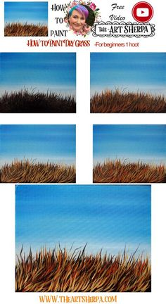 step by step How to paint Dry grass copy. Acrylic Painting For Beginners, Acrylic Painting Techniques, Step By Step Painting, Painting Hacks, Painting Tutorials, Art Techniques, Acrilic Paintings, Simple Acrylic Paintings, Acrylic Painting Canvas