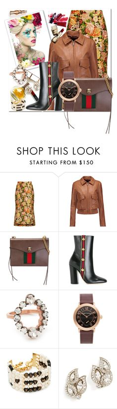 """Fashion with Embroidered Skirts!!"" by stylediva20 on Polyvore featuring Maryam Keyhani, Balenciaga, Helmut Lang, Marni, Gucci, MAHA LOZI, Marc Jacobs, Venessa Arizaga and Ben-Amun"