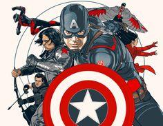 Captain America CIVIL WAR poster on Behance