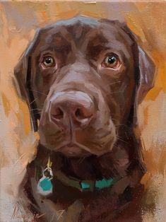 "Daily Paintworks - ""Charlie"" - Original Fine Art for Sale - © Oleksii Movchun Dog Portraits, Portrait Art, Animal Paintings, Animal Drawings, Canvas Paintings, Dog Art, Painting Inspiration, Illustration Art, Labrador Dogs"