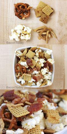 Maple Bacon #Chex Mix Recipe