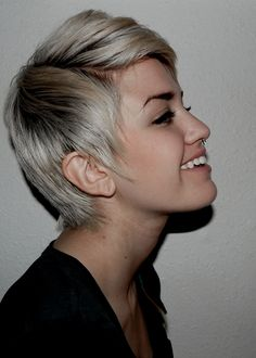 dye my hair purple with this cut i think it would  be ccute with a lighter puple with a little black