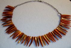 Handmade Shell Necklace Fringe Necklace Chain by DevineEssence, $25.00