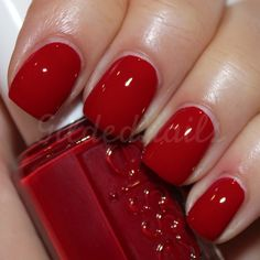 essie: dark red cream #rednailpolish