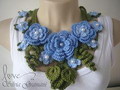 Colar Miss Flor Azul