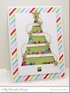 Merry Messages, Plaid Background Builder, Stitched Rectangle STAX Die-namics, Sun Moon and Stars Die-namics - Barbara Anders #mftstamps