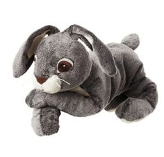 Add a VANDRING HARE stuffed bunny to children's Easter baskets as a soft, cuddly alternative to candy.