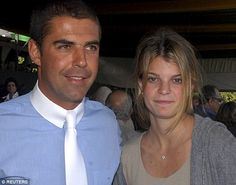 Both enthusiasts: Athina Onassis (right) and her husband pictured together.