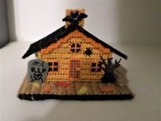 Halloween  Haunted House , Halloween Village, Halloween Decoration. Handmade, One of Kind, a Ghostgap Design Halloween Haunted Houses, Halloween House, Halloween Diy, Halloween Decorations, Halloween Village Display, Scrapbook Expo, Special Birthday Gifts, Halloween Miniatures, Distressed Painting