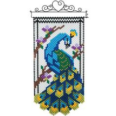 Choose from a wide selection of beaded banner kits from Herrschners! Seed Bead Patterns, Peyote Patterns, Beading Patterns, Cross Stitch Patterns, Bracelet Patterns, Pony Bead Crafts, Beaded Crafts, Cross Stitch Bird, Cross Stitching