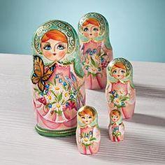 Spring Maiden Russian Nesting Dolls