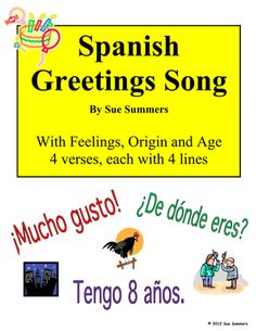 Spanish christmas songs for kids the best of youtube preschool spanish greetings song with feelings origin and age get your students up and moving m4hsunfo