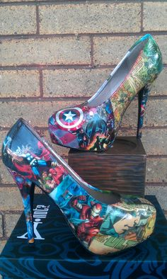 Avengers Comic book Big Heels some vintage by FaithisFabulous, $85.00