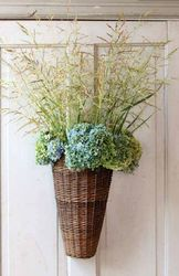 What is more suitable for your front door than this beautiful Hanging Willow Door Basket? Visit Antique Farmhouse for more hanging baskets for your doors and walls! Vintage Farmhouse, Farmhouse Style, Farmhouse Decor, French Farmhouse, Baskets On Wall, Hanging Baskets, Wall Basket, Hanging Jars, Sisal