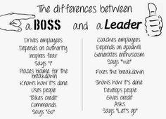 A Boss vs A Leader