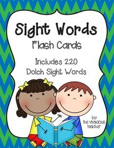 "Grades Pre-K to 3: I use these cards for one-on-one sight word practice and as a ""memory"" sight word practice game."