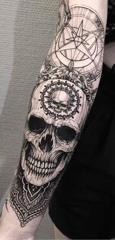 Sleeve and Hand Tattoos . Sleeve and Hand Tattoos . Pin by Samra Says On Tattoo Ideas 3 Hand Tattoos, Full Hand Tattoo, Skull Sleeve Tattoos, Tattoos Arm Mann, Forearm Tattoos, Body Art Tattoos, Turtle Tattoos, Tatoos, Unique Half Sleeve Tattoos