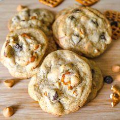 sweet + salty Pretzel Butterscotch Chocolate Chip Cookies