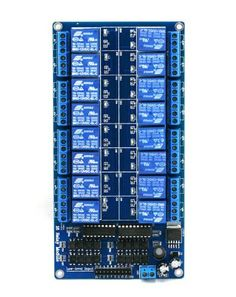 SainSmart 16-Channel 12V Relay Module for Arduino DSP AVR PIC ARM by Sain Store. $23.69. NOTE:The link is the schematic about SainSmart 16-Channel 12V Relay Module. https://s3-ap-northeast-1.amazonaws.com/sain-amzn/20/20-018-103/16+relay+board.rar  This is a 12V 16-Channel Relay interface board, Be able to control various appliances, and other equipments with large current. It can be controlled directly by Micro-controller (Arduino , 8051, AVR, PIC, DSP, ARM, ARM...