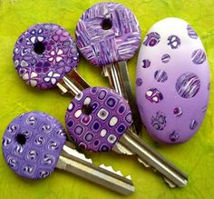Polymer Clay -- What a cool idea. What an easy way to add a touch of beauty to your everyday life. How much enjoyment would you get from these?