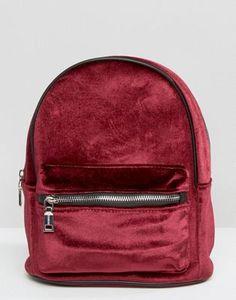 Pull and Bear Mini Velvet Backpack