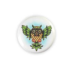 Pineapple Owl Pin Badge
