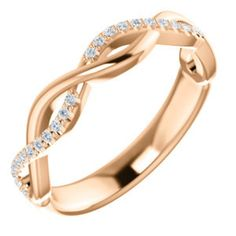 Gorgeous 14 Karat 1/8 Carat Diamond Anniversary Wedding Band by VincentsFineJewelry on Etsy