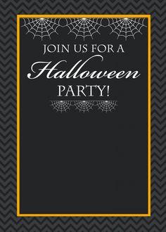Free Printable Halloween Party Invitations | Halloween invitations ...