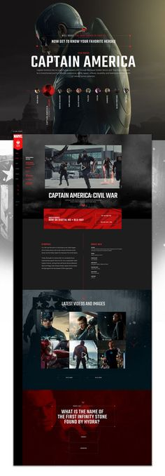 Captain-America2 #ui #ux #userexperience #website #webdesign #design