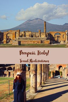 Pompeii in Italy is the most-visited archaeological site in the world. #TravelInspiration #Italy #Pompeii #TravelItaly Europe Destinations, Amazing Destinations, Honeymoon Destinations, Europe Travel Guide, Travel Guides, Travel Plan, Europe Packing, Traveling Europe, Rome Travel