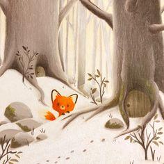 64 Super ideas for children illustration animals winter Doodle Drawing, Fox Drawing, Cartoon Drawings, Cute Drawings, Animal Drawings, 365 Kawaii, Art Fox, Art Mignon, Children's Book Illustration