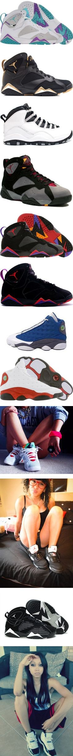 """Jordans *.*"" by crissy-swaq ❤ liked on Polyvore"